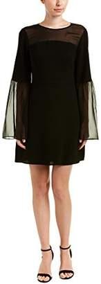 BCBGMAXAZRIA Azria Women's Finley Woven Bell Dress with Sheer Sleeves