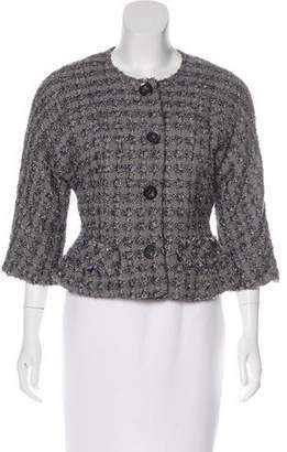 Marc Jacobs Tweed Collarless Jacket