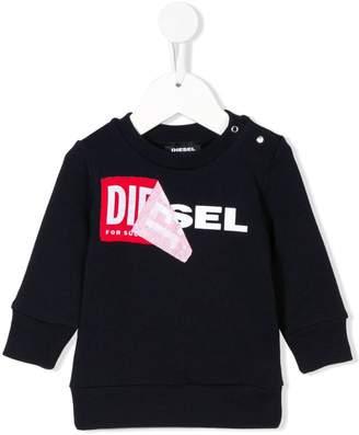 Diesel label logo sweatshirt