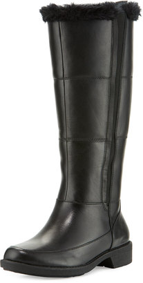 Taryn Rose Abbott Mid-Calf Boot with Faux-Fur Trim, Black $249 thestylecure.com