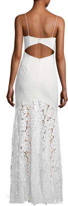 Fame & Partners Babe Lace Front-Slit Sleeveless Dress