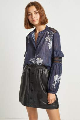 French Connenction Ellette Mix Frill Sleeve Blouse