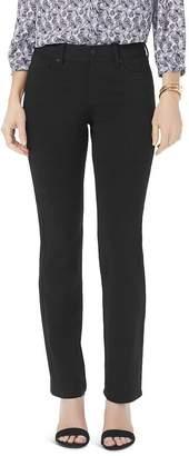 NYDJ Marilyn Straight Jeans in Black