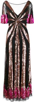 Temperley London Sycamore sequinned gown