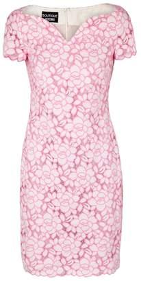 Moschino Pink And White Lace Dress
