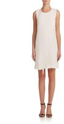 Rebecca Taylor Asymmetrical Fringe Shift Dress