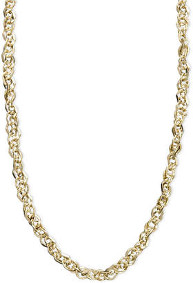 """Italian Gold Necklace, 14k Gold 18"""" Perfectina Chain Necklace (1-1/4mm)"""