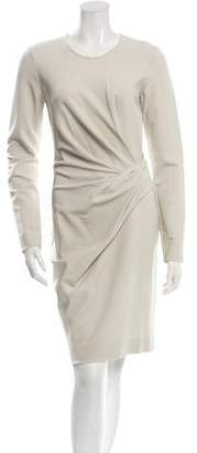 Lanvin Long Sleeve Pleat-Accented Dress w/ Tags