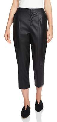 1 STATE 1.STATE Faux-Leather Cropped Pants