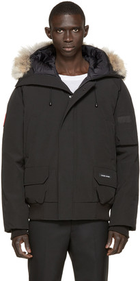 Canada Goose Black Down & Fur Chilliwack Bomber $645 thestylecure.com