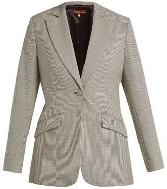 ALEXACHUNG Houndstooth Wool Blend Blazer - Womens - Black White