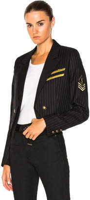 Saint Laurent Pinstripe Military Jacket