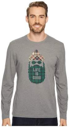 Life is Good Pattern Beard Men's Long Sleeve Pullover