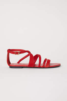 H&M Suede Sandals - Red