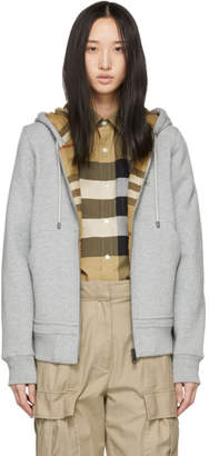 Burberry Grey Fordson Zip-Up Hoodie