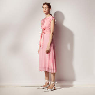Sandro Long dress with crossover front