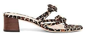 Loeffler Randall Women's Jean Leopard Delicate Strap Thong Sandals