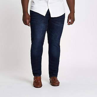River Island Big and Tall dark blue skinny jeans