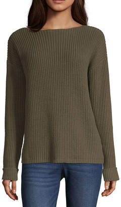 A.N.A Womens Boat Neck Long Sleeve Pullover Sweater