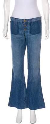 Elizabeth and James Low-Rise Wide-Leg Jeans