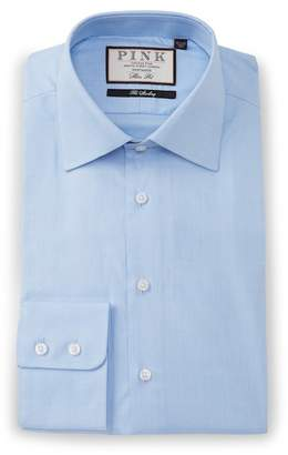 Thomas Pink Slim Fit Anders Check Dress Shirt