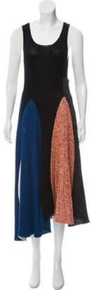 Calvin Klein Colorblock Sweater Dress Black Colorblock Sweater Dress