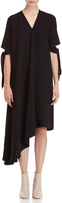 Maison Margiela Tie Sleeve Asymmetric Dress