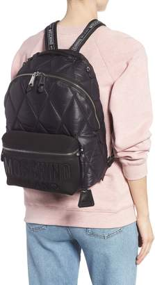 Moschino Quilted Nylon Backpack