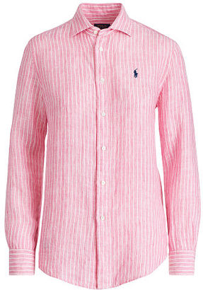 Polo Ralph Lauren Relaxed Fit Stripe Linen Shirt $125 thestylecure.com