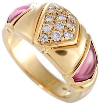 Bulgari Heritage  18K 0.33 Ct. Tw. Diamond & Pink Tourmaline Ring