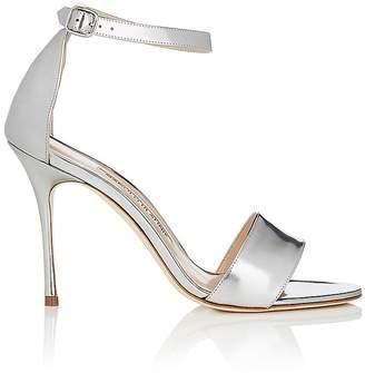 Manolo Blahnik Women's Tres Leather Ankle-Strap Sandals