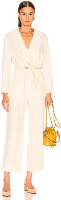 Nanushka Tanya Jumpsuit in Creme | FWRD