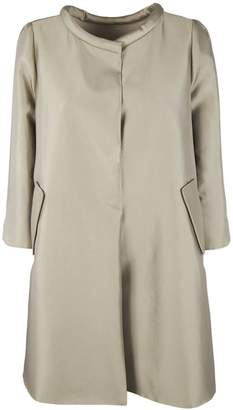 Armani Collezioni Metallic Concealed-Placket Coat