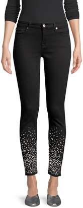 7 For All Mankind Rhinestone Embellished Skinny Jeans