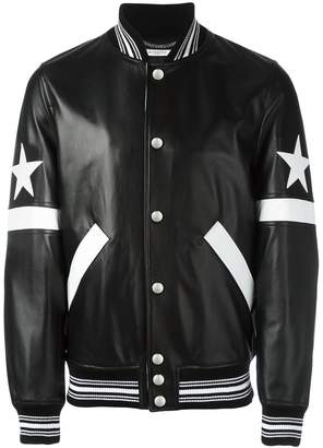 Givenchy star and stripe appliqué jacket