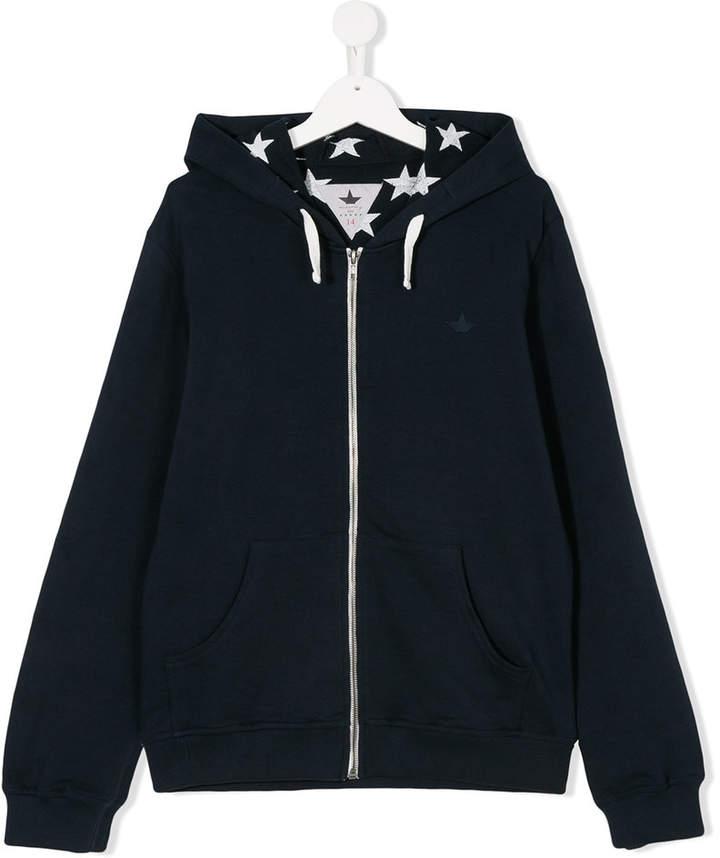 Macchia J Kids star lined hoodie