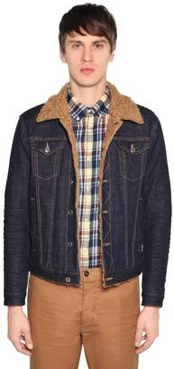 DSQUARED2 Cotton Denim Jacket W/ Faux Shearling