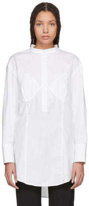 Wendelborn White Darted Bra Shirt