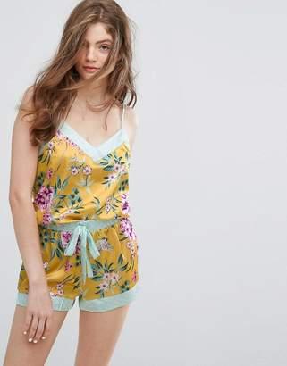 New Look Floral Satin Cami Pyjama Top