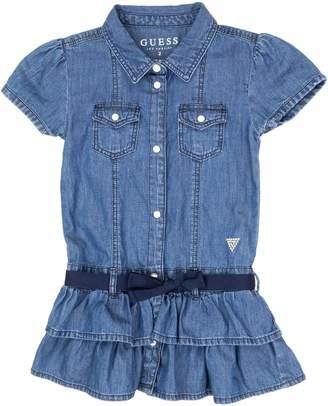 GUESS Little Girl's Ruffle Denim Dress