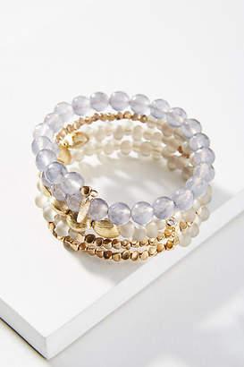Anthropologie Beaded Coil Bracelet