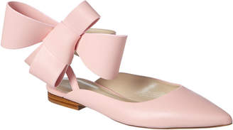 DELPOZO Bow Leather Ballerina Flat