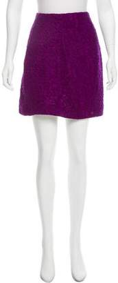 Donna Karan Wool-Blend Mini Skirt