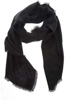 Fendi Black Shawl In Wool