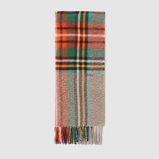 Gucci Check wool scarf
