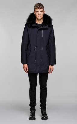 Mackage MORITZ-X flannel parka with fur lined hood
