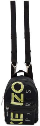 Kenzo Black Mini Reflective Logo Backpack