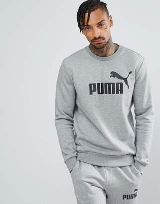 Puma ESS No.1 Crew Neck Sweatshirt In Gray 83825203