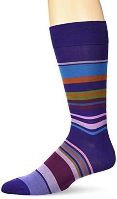 Bugatchi Men's Fashion Mercerized Cotton Rainbow Design Sock