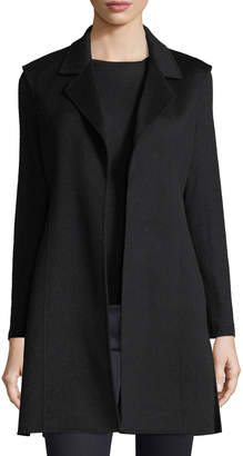 Neiman Marcus Luxury Notched Double-Face Cashmere Vest